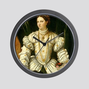 Portrait of a Lady in White Wall Clock