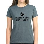I kissed a dog and I liked it Women's Dark T-Shirt