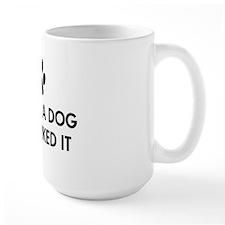 I kissed a dog and I liked it Large Mug
