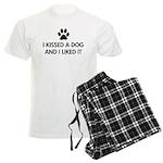 I kissed a dog and I liked it Men's Light Pajamas