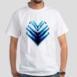 Chevron-Blue White T-Shirt
