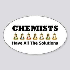 All the Solutions Oval Sticker