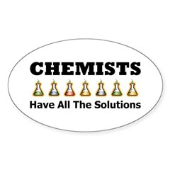 All the Solutions Oval Decal