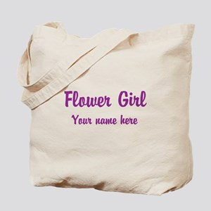 Flower Girl By Name Tote Bag