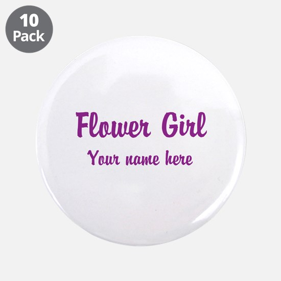 "Flower Girl By Name 3.5"" Button (10 pack)"