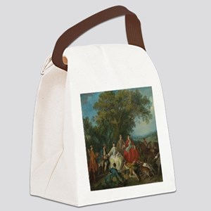 Picnic after the Hunt Canvas Lunch Bag