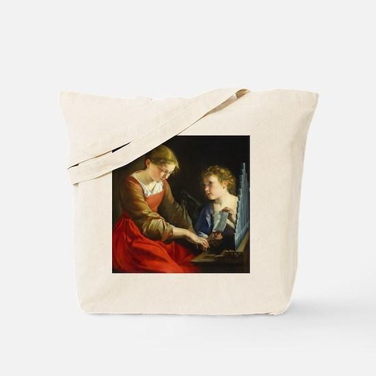 Saint Cecilia and an Angel Tote Bag