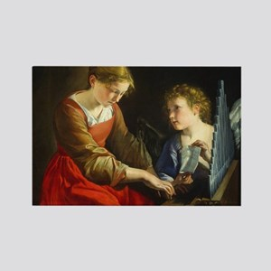 Saint Cecilia and an Angel Rectangle Magnet