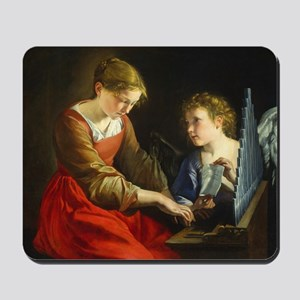 Saint Cecilia and an Angel Mousepad