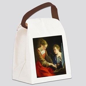 Saint Cecilia and an Angel Canvas Lunch Bag