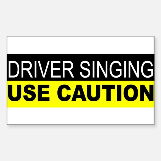 Driver Singing Decal