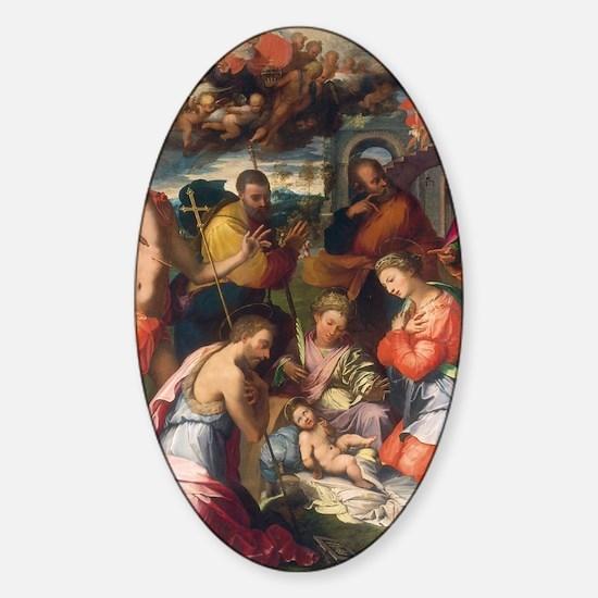 The Nativity Sticker (Oval)