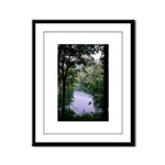 Fish Pond Lake Framed Panel Print