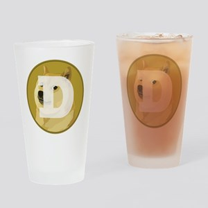 Dogecoin Drinking Glass