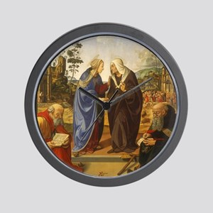 The Visitation with Saint Nicholas and  Wall Clock
