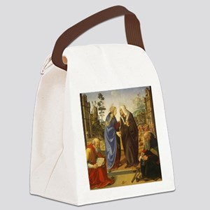 The Visitation with Saint Nichola Canvas Lunch Bag