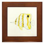 Copperband Butterflyfish Framed Tile