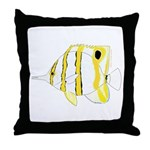 Copperband Butterflyfish Throw Pillow