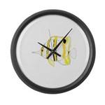 Copperband Butterflyfish Large Wall Clock