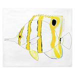 Copperband Butterflyfish King Duvet