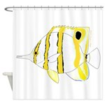 Copperband Butterflyfish Shower Curtain