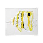 Copperband Butterflyfish Throw Blanket