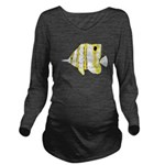 Copperband Butterflyfish c Long Sleeve Maternity T