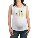 Copperband Butterflyfish c Maternity Tank Top