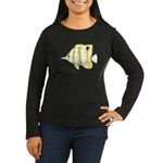 Copperband Butterflyfish c Long Sleeve T-Shirt