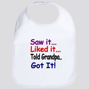 Saw it, liked it, told Grandpa, got it! Bib