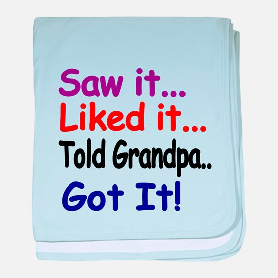 Saw it, liked it, told Grandpa, got it! baby blank