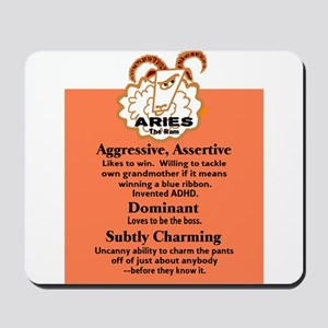 Aries-Zodiac Sign Mousepad