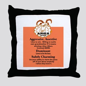Aries-Zodiac Sign Throw Pillow