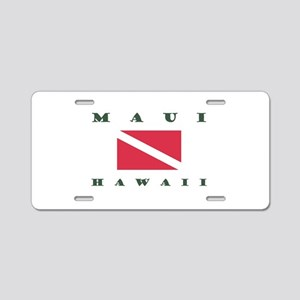 Maui Dive Flag Aluminum License Plate