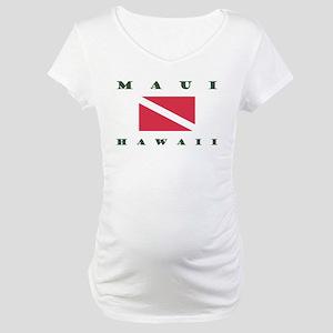 Maui Dive Flag Maternity T-Shirt