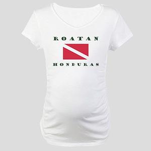 Roatan Dive Design Maternity T-Shirt