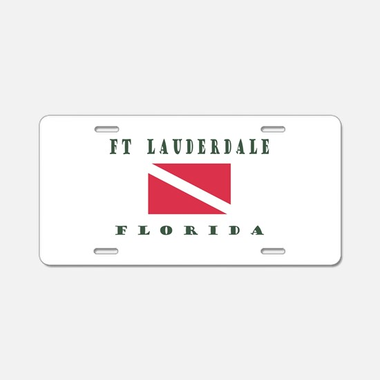 Ft Lauderdale Florida Dive Aluminum License Plate