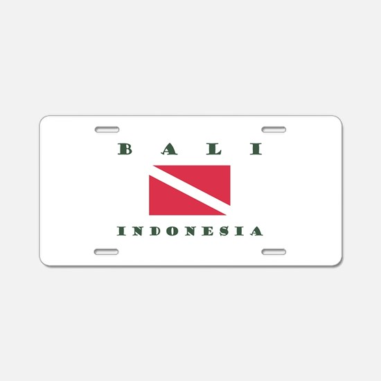 Bali Indonesia Dive Aluminum License Plate