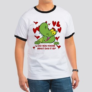 Crocodile Valentines Day Ringer T
