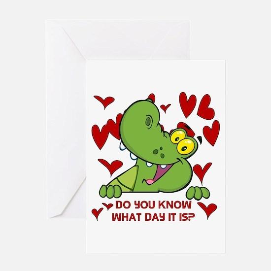 Crocodile Valentines Day Greeting Card