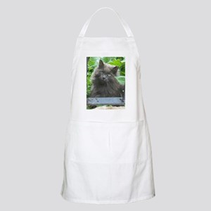 Long Haired Russian Blue Cat Apron