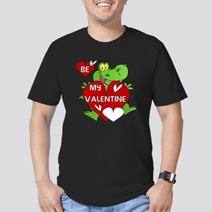 Crocodile Be My Valentine Men's Fitted T-Shirt (da
