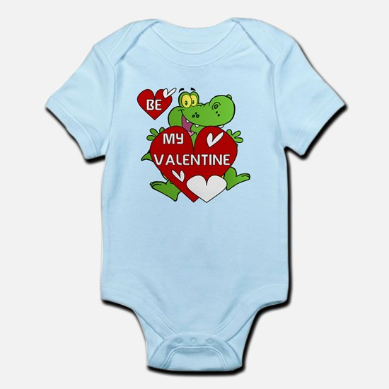 Crocodile Be My Valentine Infant Bodysuit