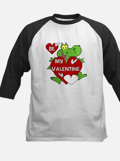 Crocodile Be My Valentine Kids Baseball Jersey