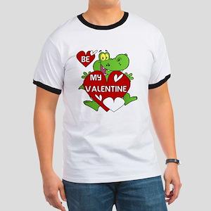 Crocodile Be My Valentine Ringer T