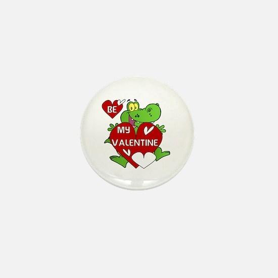 Crocodile Be My Valentine Mini Button