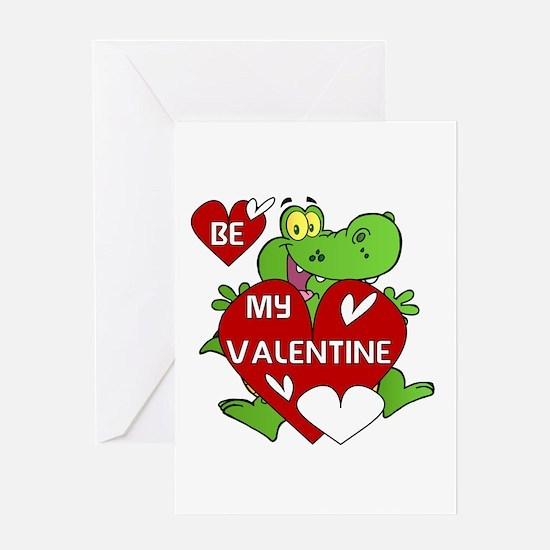 Crocodile Be My Valentine Greeting Card