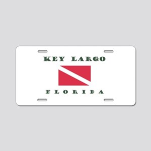 Key Largo Florida Dive Aluminum License Plate