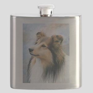 Dog 122 Sheltie Collie Flask