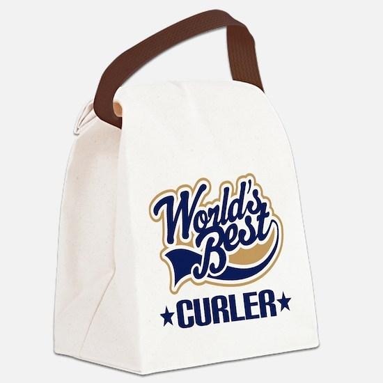Curler (Worlds Best) Canvas Lunch Bag